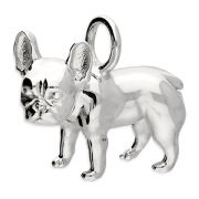 French Bulldog Charm 3D Large Sterling Silver Charms